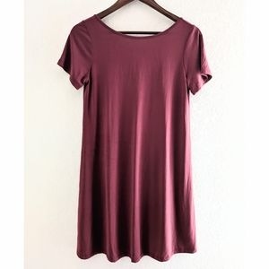 Vestique Red Open Back T Shirt Dress NEW!